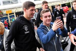 ryan jack in rangers squad as steven gerrard's side head out to slovenia for europa league crunch