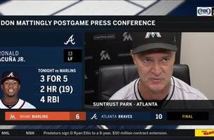 don mattingly on back-and-forth game, struggling to contain ronald acuna jr.