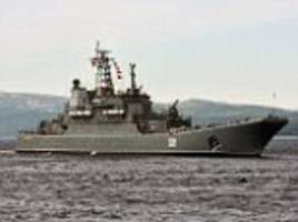 moscow stages a major naval show of strength in in the arctic sea