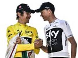 chris froome and geraint thomas will make rare appearance and race in the tour of britain next month