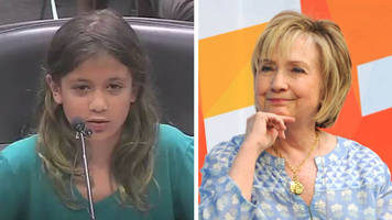 hillary clinton praises girl for us pledge of allegiance protest
