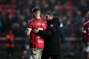 he's retained his cult status - bristol city boss on joe bryan turning down aston villa move in favour of fulham