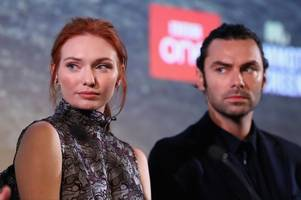 are poldark's aidan turner and eleanor tomlinson competing for the next james bond lead