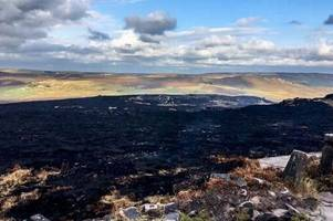 red cross supporting firefighters tackling wildfire