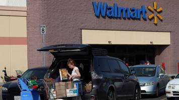 walmart shares up 10% on news of online sales lift