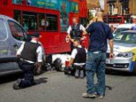 Police catch suspected moped muggers after dramatic five mile chase through London