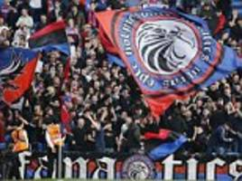 crystal palace will be without infamous 'holmesdale fanatics' against liverpool after ticketing row