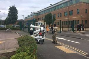 Man arrested after controlled explosion at Derbyshire police headquarters