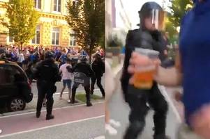 five scots arrested for attacking police with 'punches and objects' before rangers europa league clash
