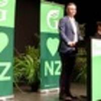 Green Party co-leader James Shaw speaks at party's AGM in Palmerston North