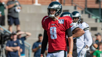 Nick Foles Suffers Shoulder Strain, Listed as Questionable to Return vs. Patriots