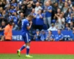 puel defends vardy after leicester striker receives 'tough' red card