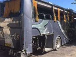 thirty british nationals on board overturned coach in france