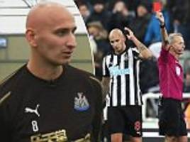 newcastle's jonjo shelvey says he sees a psychologist to control temper