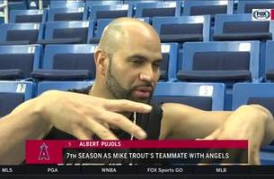 albert pujols relishes the opportunity to mentor mike trout
