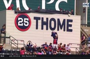 jim thome has his number retired by the cleveland indians