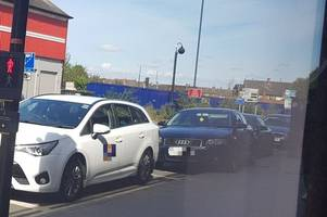 another taxi driver parks on yellow lines at traffic lights in derby - but what is the council doing about it?