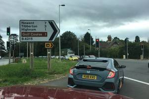 'chaos' on a40 over roundabout as traffic at standstill amid road closures