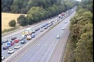 Updates: A1M blocked as two seriously injured after car overturns