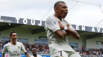 guingamp 1-3 paris st-germain: kylian mbappe completes psg comeback with two late goals