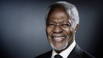 Kofi Annan, the first black African to run the UN