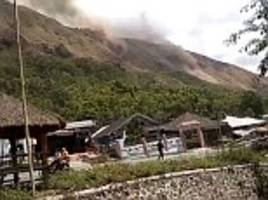landslides and panic as two large earthquakes rattle tourist resorts in lombok