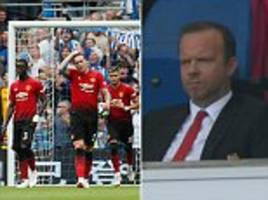 Manchester United chief Ed Woodward looks furious after watching side sink to 3-2 at Brighton