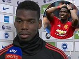 Paul Pogba gives honest assessment after Manchester United fall to shock defeat by Brighton