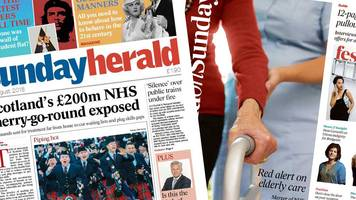 The papers: Concerns over NHS Scotland patients