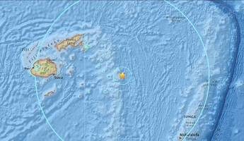 Powerful magnitude 8.2 earthquake strikes in the Pacific Ocean near Fiji and Tonga