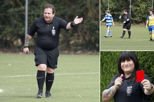 wife of football's first ever transgender referee lucy clark stands by partner and will renew wedding vows