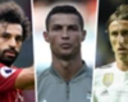 ronaldo, salah & modric to battle for uefa player of the year