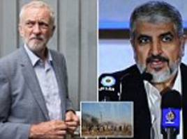 corbyn's boast about 'takeaway dinner' with hamas chief