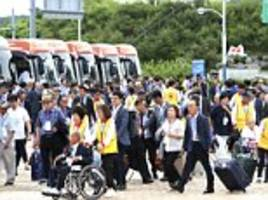 Dozens of elderly South Koreans cross heavily-fortified border with the North for reunions