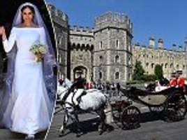 meghan markle's £200,000 wedding gown by givenchy 'is set to go on display at windsor castle'