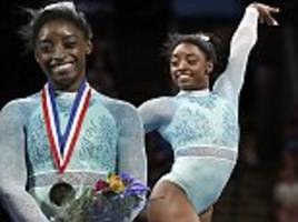 'for the survivors': simone biles wears teal outfit in support of fellow larry nassar victims