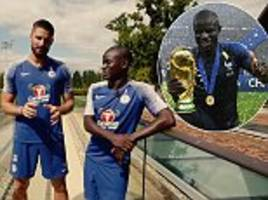 n'golo kante was too shy to touch the world cup at first, reveals olivier giroud