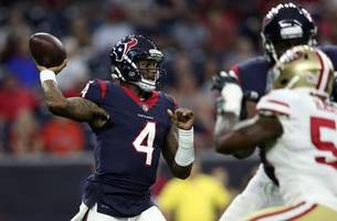 photos: deshaun watson throws touchdown pass as houston holds off san francisco in preseason action
