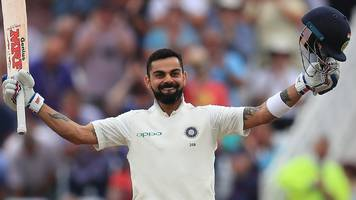England v India: Virat Kohli's century puts tourists in control at Trent Bridge
