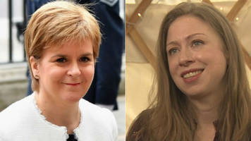chelsea clinton says nicola sturgeon is 'incredibly courageous'