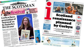 The papers: Corbyn begins Scotland tour