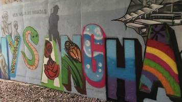 pontypridd underpass transformed after racist graffiti covered by children