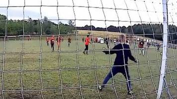 son's goalkeeping debut for sheffield team video goes viral