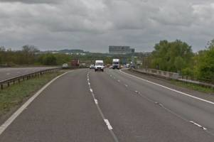 Two lanes of the M6 closed after two-vehicle smash