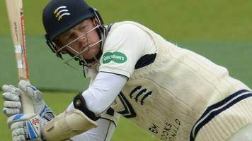 County Championship: Sam Robson and Max Holden help Middlesex fight back at Northants