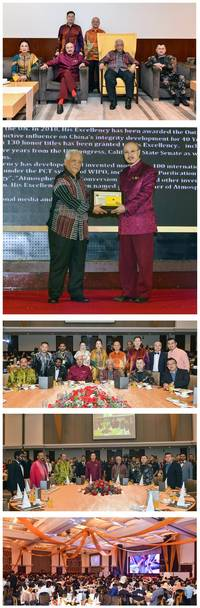 father of atmospheric water generation dato' sri ng tat-yung attended royal charity dinner in malaysia, received highest honorary commendation