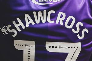 what is that squiggle next to players' names on shirts in the efl?