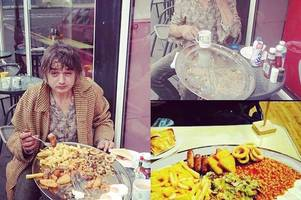 Libertines frontman Pete Doherty wolfs down Cliftonville breakfast challenge only a handful of people have conquered