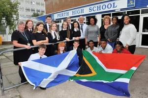 Perth High School welcome for South African pupils