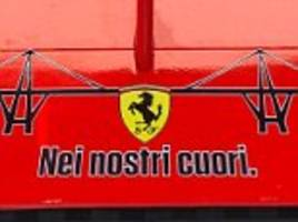 ferrari pay tribute to genoa bridge collapse as f1 returns from break